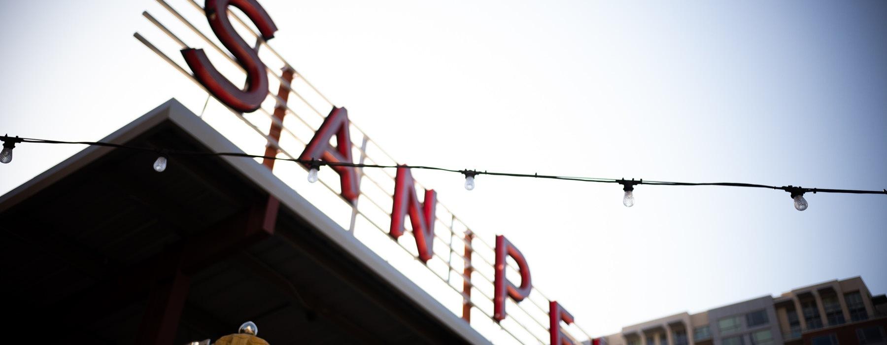San Pedro Square Market sign